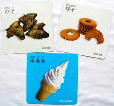 AsianParent.com-Baby's bilingual Chinese Flashcards-yummy food
