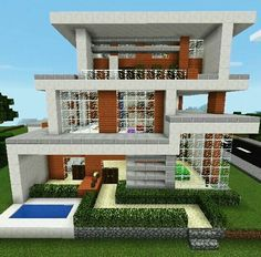 Minecraft modern design build from @minecr4ft_biome Minecraft Building Blueprints, Minecraft Projects, Minecraft Ideas, Minecraft Houses, Minecraft Modern, Biomes, Diy And Crafts, Modern Design, The Originals