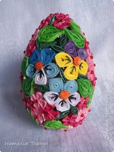 Поделка изделие Пасха Квиллинг Квиллинговые яйца Бумажные полосы фото 8