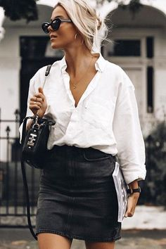 03e9059a0bf 20 Best White Button Down Shirt images | Classy outfits, Clothing ...