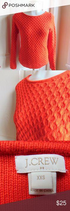 XXS J.Crew Orange Knit Sweater In like new condition!  XXS J.Crew  Beautiful orange knit sweater!  No snags, no wear and tear! J. Crew Sweaters