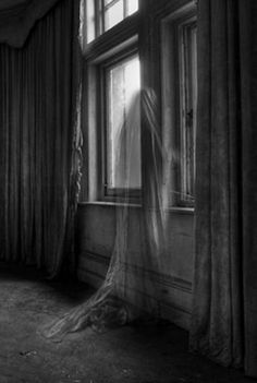 Endless story by Bousure | ghostly | ghost by the window | black & white | eerie | spooky | www.republicofyou.com.au