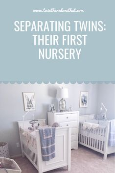 Departing the twins and their first gender neutral nurse ray Small Twin Nursery, Twin Nursery Gender Neutral, Nursery Twins, Elephant Nursery, Boys Room Decor, Girl Room, Kids And Parenting, Parenting Hacks, Twin Nurseries