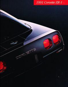 1991 Chevrolet Chevy Corvette ZR-1 ZR1 Original Sales Brochure