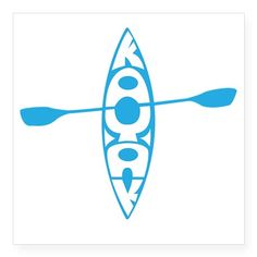 "Kayak tee Square Sticker 3"" x 3"""