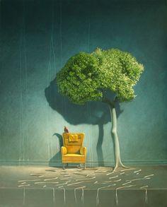 Surrealist Artist Thor Lindeneg on Sunrise Artists #art #surrealism #painting #finearts http://sunriseartists.com/2013/05/06/thor-lindeneg-interview/