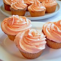 Watermelon Cupcakes with Watermelon Buttercream Frosting