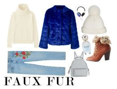 """Faux fur"" by caseyseafield ❤ liked on Polyvore featuring Twin-Set, Uniqlo, Gucci, Charlotte Russe, Yestadt Millinery, Frends, Fendi and Marc Jacobs"