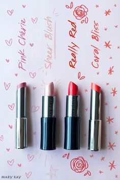 Pink, neutral, red and coral. We have so many shades with moisture-rich True Dimensions® Lipstick and long-wearing Mary Kay® Creme Lipstick. Pick up one of each so you always have the right color on hand!   Mary Kay