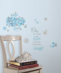 Another great find on #zulily! Frozen Let it Go Peel & Stick Wall Decals by Frozen #zulilyfinds