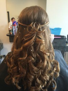 Easy curls with sparkles