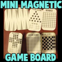 Mini magnetic travel games using an altoid tin