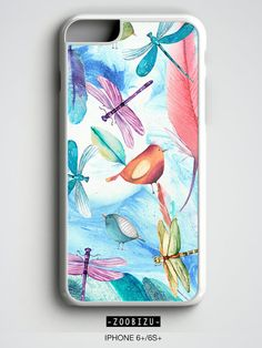 Dragonfly iPhone case with watercolor design.  Your second case %50 OFF! add 2 items to your cart and use 50NOW coupon code. (It doesnt contain couple or