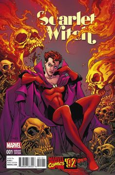 Scarlet Witch #1 Marvel '92 variant cover by Tom Raney *