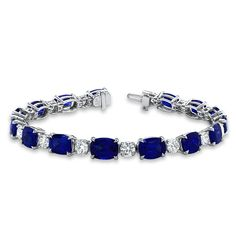 Sapphire  Diamond Tennis Bracelet | Diamonds | Jewelry | Fashion | Style | Luxe | Eiseman Jewels | Eiseman Bridal