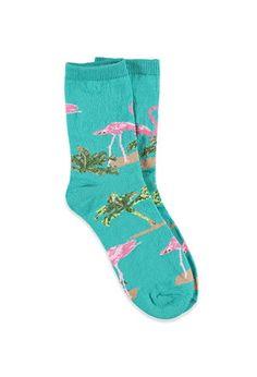 Flamingo Crew Socks | Forever 21 - 2000052561