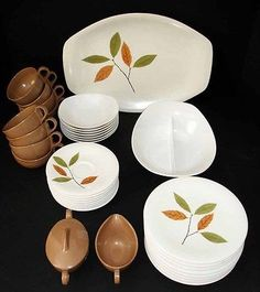 ★ VTG ONEIDA MELMAC MELAMINE LUNCHEON SERVICE/SERVING SET DINNERWARE DISHES ★