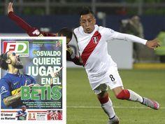 Christian Cueva sale en portada de diario español como refuerzo del Real Betis. July 17, 2015.