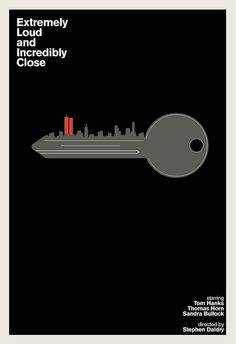 Extremely Loud and Incredibly Close movie poster. Very inventive.