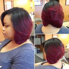 STYLIST FEATURE| This #bob styled by #DetroitStylist @simplystyledbydee is beautiful❤️ This #quickweave bon looks so natural #voiceofhair ========================= Go to VoiceOfHair.com ========================= Find hairstyles and hair tips! =========================