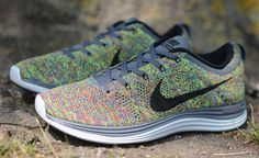 "Available: Nike Lunar Flyknit 1+ ""Static Rainbow"""