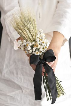 小麦と小花のドライフラワーブーケ*スワッグにも♪