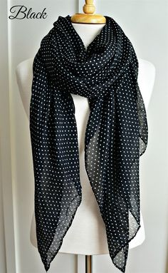 New for Spring: Featherweight Polka Dot Scarf {Jane Deals}