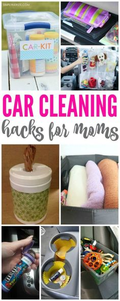 Car Cleaning Hacks for Moms! Fun and easy ways to clean your car and get your kids to help too!