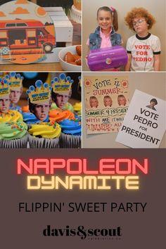 Birthday Party Planner, Birthday Celebration, Birthday Ideas, Diy Party, Party Ideas, Party Food Bars, Napoleon Dynamite, Happy Birthday Balloons, 11th Birthday