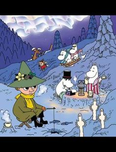 Childhood Stories, My Childhood, Moomin Wallpaper, Moomin Valley, Tove Jansson, Christmas Cartoons, Little My, Illustrations And Posters, Character Illustration
