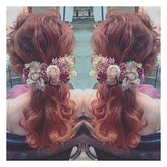 * * wedding hair * * #ヘアアレンジ #wedding #ネイル #コーデ