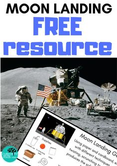 Explore the Apollo 11 moon landing with this FREE resource. Using on hand supplies, this STEM activity challenges students to create a Moon Landing device that will ensure their astronauts (ping pong balls) survive.  Will you be able to land safely on the moon? Explore engineering design principles.  #STEM #moonlanding #themoon #science #STEMchallenge