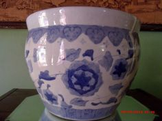 Oriental Chinese Fish Bowl Planter Jardinere by Great1Treasure, $79.99