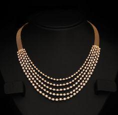 Gold and Diamond jewellery designs: Indian Diamond Bridal Necklace Sets from vummidi