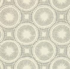 Scion Tree Circles Grey / Off White Wallpaper main image
