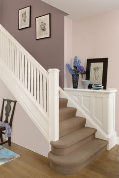 Paint Color For Hallway foyer. foyer staircase. foyer hardwood flooring. foyer paint color