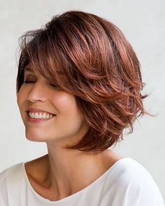 Long bob hairstyles 697213586044228685 - 52 Fashion Summer Inspirational Layered Hairstyles Ideas For Medium Lenth Hair 2019 – Page 19 of 52 – Diaror Diary Source by diarordiary Short Shag Hairstyles, Short Bob Haircuts, Prom Hairstyles, Short Hairstyles For Women, Hairstyles With Bangs, Medium Layered Hairstyles, Hair Styles For Women Over 50, Medium Hair Styles, Curly Hair Styles