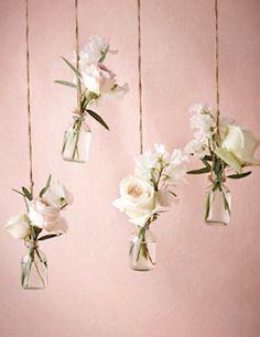 Beautiful hanging bud vases