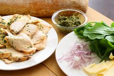 Chicken Pesto Panini - Saving Room for Dessert Chicken Pesto Panini, Delish, Pork, Meat, Kale Stir Fry, Pork Chops