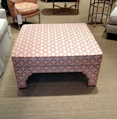 Spotted at High Point Market 2012 - gorgeous ottoman