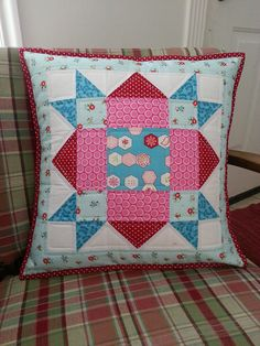 Red and Aqua by scrapnchick, via Flickr