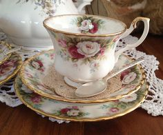"""My favourite tea cup, """"Celebration."""" Manufactured from 1969-2001. The cup shape is, """"Montrose."""""""
