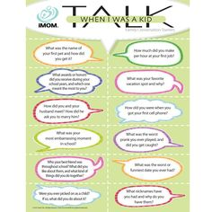 """When I Was a Kid Talk 