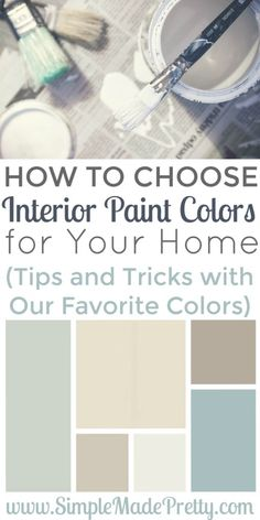 How To Choose Interior Paint Colors For Your Home Paint Colors Salts And Off White Walls