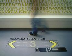 Granada Television floor graphic provides direction to building occupants