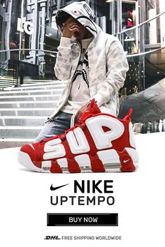 the best attitude 3ad98 3fd94 Buy Nike UPTEMPO Supreme Varsity Red sneakers