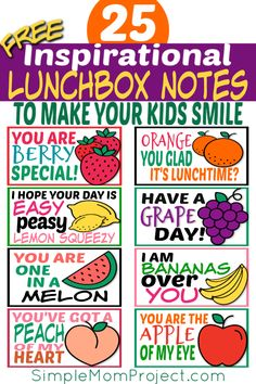 25 Free Printable Lunchbox Notes for Kids – Simple Mom Project - Kinder Mittagessen Lunchbox Notes For Kids, Lunch Box Notes, School Lunch Box, School Lunches, Starting School, Going Back To School, Printable Crafts, Free Printables, Back To School Crafts