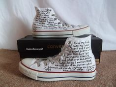 Wedding Converse - Custom Converse on We Heart It Converse Wedding Shoes, Custom Converse, Black Converse, Forever Yours, Together Forever, Here Comes The Bride, Marry Me, Wedding Bells, Wedding Accessories