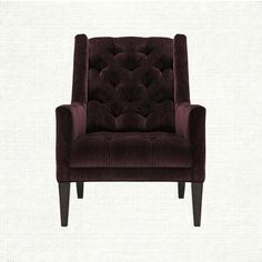 Ida Tufted Upholstered Chair In Vangogh Amethyst   Arhaus Furniture