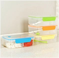 Food Grade PP lunch box for kids Korean Style Solid color Fully Sealed Food